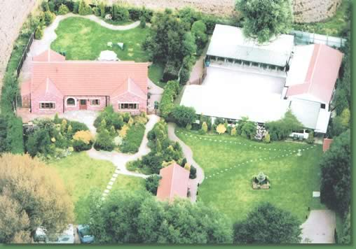 Aerial view of the kennels and cattery
